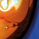 Orange Swirling Abstract, c.2008