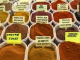 Spices on Stall in the Market in Kalkan, Anatolia, Turkey, Asia Minor, Eurasia
