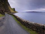 Road and Loch Na Keal, Isle of Mull, Inner Hebrides, Scotland, United Kingdom, Europe