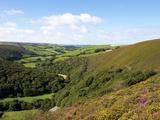 Exmoor From County Gate, Looking Towards Brendon, Exmoor National Park, Somerset, England, Uk