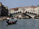 Rialto Bridge, Grand Canal, Venice, Veneto, Italy, Europe