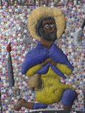 Cousin Zakka, Voodoo Pearl Flag, Port-Au-Prince, Haiti, West Indies, Central America