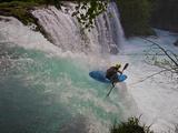 A Kayaker Running Spirit Falls, Little White Salmon River