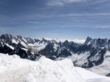 Aiguille Du Midi, View of the Mont Blanc Massif, Chamonix, Haute Savoie, French Alps, France, Europe