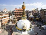 Buddhist Stupa in the Old Part of Kathmandu Near Durbar Square, Kathmandu, Nepal, Asia