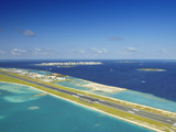 Male International Airport and Male, Maldives, Indian Ocean, Asia