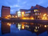 Waterfront at Night, Nottingham, Nottinghamshire, England, United Kingdom, Europe