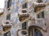 Facade of Casa Batlo, UNESCO World Heritage Site, Barcelona, Catalonia, Spain, Europe