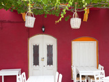 Front of Cafe, Taverna, Symi Island, Dodecanese Islands, Greece