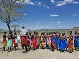 Samburu Tribesmen Dancing, Samburu Game Reserve, Kenya, Africa