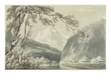 Near Grindelwald, C.1796 (Blue and Grey Wash over Graphite on Paper)
