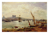 Rochester Cathedral and Castle, C.1820-30 (Oil on Panel)