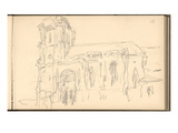 Church of Montjavoult (Pencil on Paper)