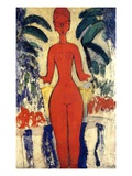 Standing Nude, 1913 (Oil on Board)