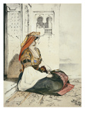 A Jewish Woman of Gibraltar, from 'Sketches of Spain', Engraved by Charles Joseph Hullmandel