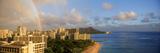 Rainbow over the Beach, Diamond Head, Waikiki Beach, Oahu, Honolulu, Hawaii, USA