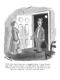 """""""""""O.K. then, have it your way?I wasn't bowling. I spent the evening with a ?"""""""" - New Yorker Cartoon"""