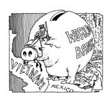 World Bank.  - Cartoon