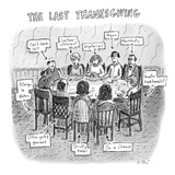 The Last Thanksgiving - New Yorker Cartoon