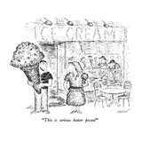 """""""""""This is serious butter pecan!"""""""" - New Yorker Cartoon"""