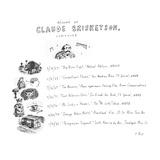 Resume Of Claude Briskentson, composer - New Yorker Cartoon