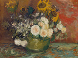 Sunflowers, Roses and Other Flowers in a Bowl, 1886