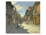Village Street in Normandy (Rue De La Bavolle, Honfleur), about 1867