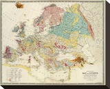 Geological Map of Europe, c.1856