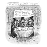 (Three witches stir a large wok.) - New Yorker Cartoon