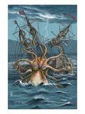 Kraken Attacking Ship