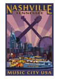 Nashville, Tennessee - Skyline at Night