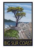 Big Sur Coast, California - Lone Cypress Tree