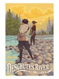 Deschutes River - Bend, Oregon - Women Fishing