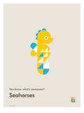 You Know What's Awesome? Seahorses (Gray)