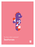 You Know What's Awesome? Seahorses (Pink)