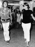 Jacqueline Kennedy Onassis and Fashion Designer Valentino in Capri, Italy, Aug 24, 1970