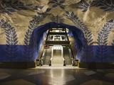 Artwork in Kungstradgarden Subway Station, Stockholm, Sweden, Scandinavia, Europe