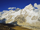 Mount Everest and Nuptse from Kala Patthar, Sagarmatha Natl Park, UNESCO World Heritage Site, Nepal