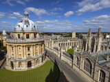 View over Radcliffe Camera and All Souls College, Oxford, Oxfordshire, England