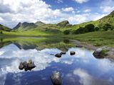 Blea Tarn and Langdale Pikes, Lake District National Park, Cumbria, England, United Kingdom, Europe