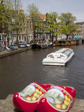 Souvenir Clogs and Canal, Amsterdam, Holland, Europe