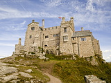 St Michael's Mount Castle Viewed Close Up, Cornwall, England, UK, Europe