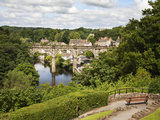 Castle Grounds Looking Toward Knaresborough Viaduct and River Nidd, Yorkshire, England