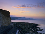 View of Seven Sisters Cliffs at Sunrise, Seaford, East Sussex, England, United Kingdom, Europe