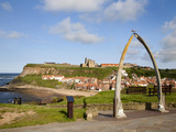 The Whalebone Arch at Whitby, North Yorkshire, Yorkshire, England, United Kingdom, Europe
