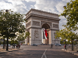The Arc de Triomphe on the Champs Elysees in Paris, France, Europe