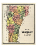 1869, Vermont Map, Vermont, United States