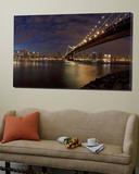 Manhattan Bridge and Brooklyn Bridge, New York City, USA
