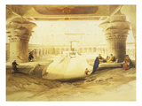 Temple of Edfu, View from the Gate, Lithograph, 1838-9