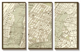 Sepia Map of New York